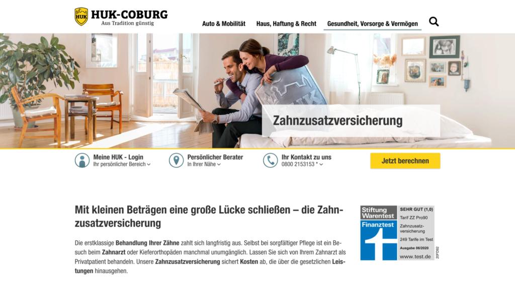 HUK COBURG Zahnzusatzversicherung