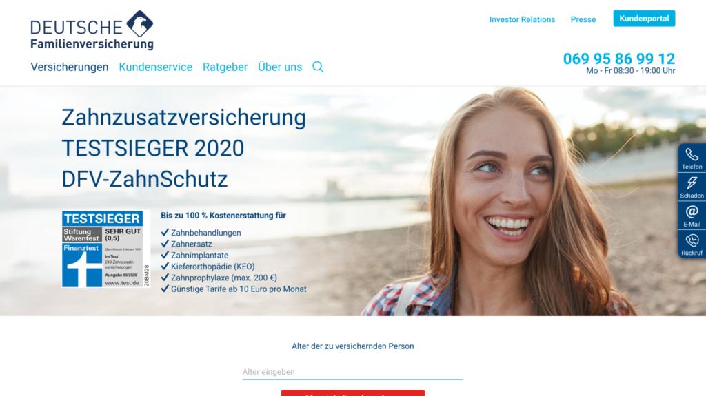 deutsche familienversicherung zahnzusatzversicherung x testsieger in folge
