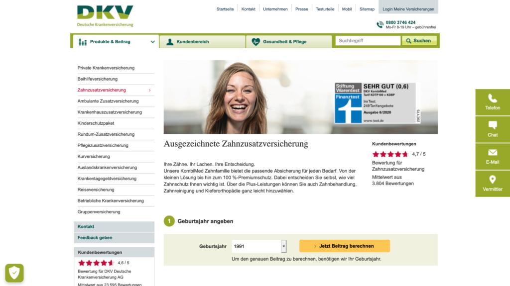 dkv private zahnzusatzversicherung