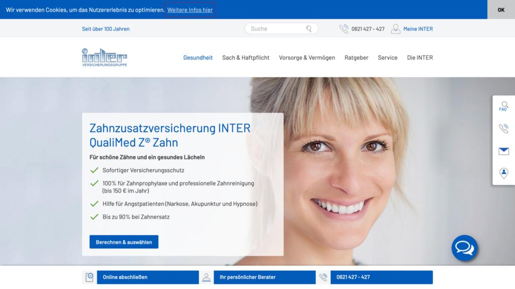inter dc zahnzusatzversicherung
